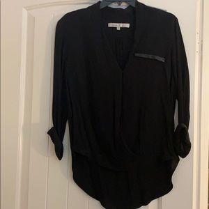Lovers +friends black blouse